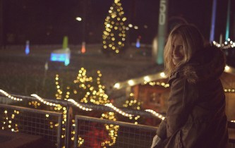 Weihnachtslandschaft mit Lichtermeer
